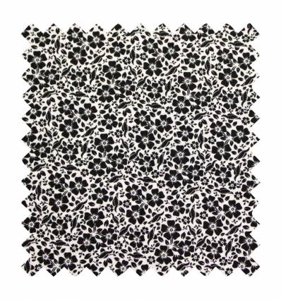 Patchwork Black Flowers (Ref. MC2600-141 COL. 57)
