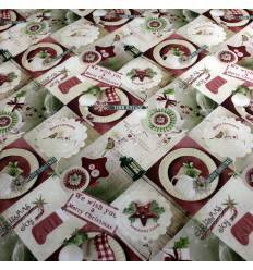 Tela Patchwork  Christmas Joy